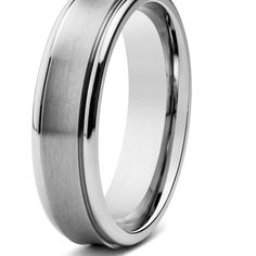 Men /& Womens 8MM//6MM Brushed Center Shiny Edge Cobalt Chrome Wedding Band Ring Set Available Sizes 6-12 Including Half Sizes