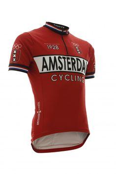 Retro Cycling shirt Amsterdam Red