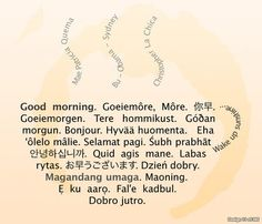 how to say good morning in all languages
