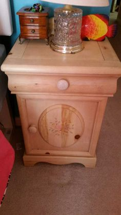 The Furniture Solid Pine Two Drawers Nightstand