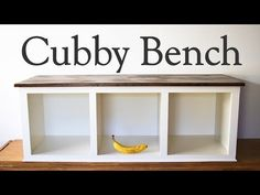This storage bench is stylish and useful. Place this bench in the entry way or in a mud porch to have a convenient place to sit while removing or putting on . Porch Storage Bench, Shoe Storage Bench Diy, Cubby Bench, Cubby Storage, Bedroom Storage, Storage Ideas, Kitchen Storage, Mudroom Benches, Pallet Storage