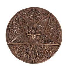 Horned God & Goddess Plaque