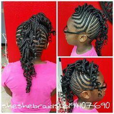 Cornrows Mohawk braids kid styles