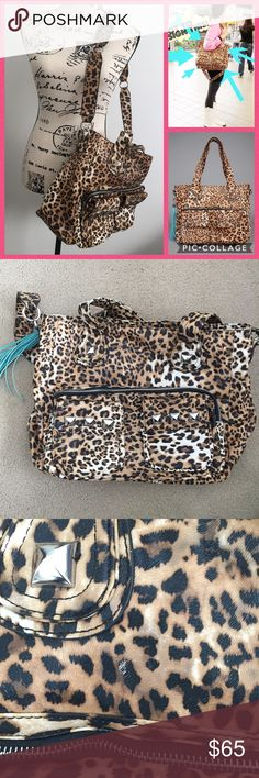 Kandee Johnson Imoshion Limited Ed. Leopard Bag The Imoshion bag beauty guru Kandee Johnson designed herself! This is a 2013 1st generation bag (before they did a redesign for the holidays). Bag is in GREAT preowned condition with only minor signs of wear (scuff seen in pic). Clean inside and smoke free home! Giant silver studs, tassels, 6 pockets, zippered pocket pouch inside, and a detachable and adjustable shoulder strap. Imoshion Bags