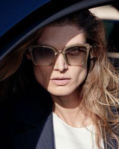 Miu Miu: Square Gradient Cutoff Sunglasses,