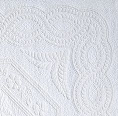 Most of my wholecloth quilts also use trapunto. If you don't trapunto your designs they can end up looking a little flat, but if you do use trapunto your quilts will really pop! Credit: Wholecloth and Patience ~ Design and quilting by Karen McTavish