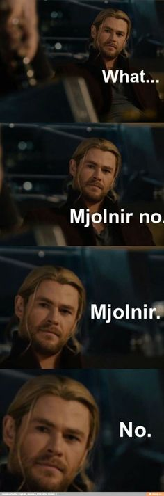 Bad mjolnir bad! XD