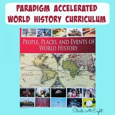 Paradigm Accelerated World History Curriculum offers your high school student both print and digital options.