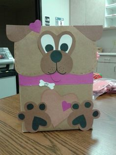 Valentine box I made. Puppy!!