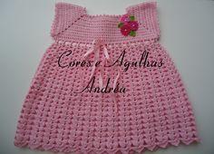 Cores e Agulhas: Vestido de Bebe em Crochê Princesa com receita.