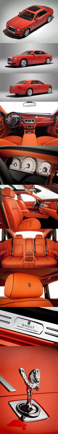 Rolls Royce Ghost roars in a customized rustic red makeover