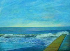 Dori Sanz -  Marina, acrílico sobre lienzo #sealandscape #painting #buenosaires