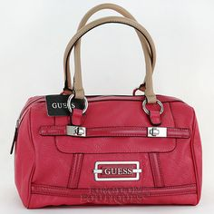 6f74ee11d626 Free SH New GuEsS Handbag Ladies Ferrand Satchel Box Bag Logo Purse Pink  NwT Sac Guess
