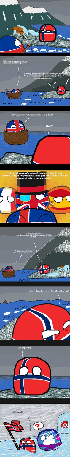 Norway's Colonies (Norway, Iceland, Antarctic) by La Tartifle  #polandball #countryball
