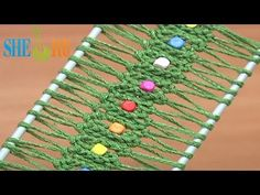 ▶ Hairpin Lace Crochet With Beads Tutorial 25 Easy to Make Hairpin Strip - YouTube