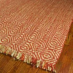 Hand-woven Arts Natural/ Rust Fine Sisal Rug (8' x 10')    This could either brighten up the room or make it look crazy.
