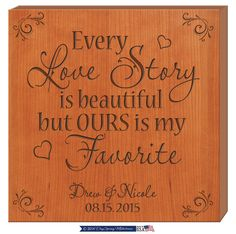 Every Love Story is beautiful but ours is my favorite, Personalized Every Love Story is beautiful gift, Custom Wedding gift,Anniversary gift by DaySpringMilestones on Etsy 30th Anniversary Gifts, Wedding Couples, Wedding Ideas, Custom Wedding Gifts, Love And Marriage, Vows, Love Story, Personalized Gifts, Cutting Board