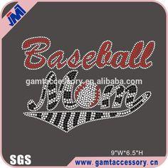 SGS certificate korean lead free rhinestone transfer baseball mom design #baseball, #mom