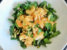 Spicy Prawns with Spinach & Coconut Recipe. #food #recipes #cooking #coconut #spinach #greenchilli
