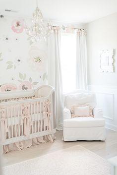 Ryann Whitney S French Provincial Inspired Nursery Hardwood Floors Armoire Antique