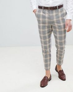 6848221ad62 Bershka Check Trousers In Grey. Mens FashionFashion OutfitsStyle Fashion GreyPantsChecked TrousersClothesMen ...