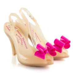 Vivienne Westwood Nude Lady Dragon Bow Anglomania Women's Shoe
