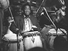 """Ramón """"Mongo"""" Santamaría Rodríguez was a rumba quinto master and an Afro-Cuban Latin jazz percussionist. He is most famous for being the composer of the jazz standard """"Afro Blue,"""" recorded by John Coltrane among others."""