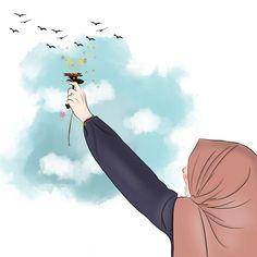No photo description available. Cover Wattpad, Hijab Drawing, Anime Muslim, Hijab Cartoon, Profile Picture For Girls, Islamic Girl, Couple Cartoon, Digital Art Girl, Islamic Pictures
