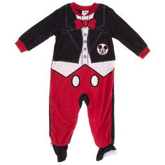 Now your toddler can dress like Mickey Mouse in this Mickey Tuxedo blanket sleeper. For those parent's that are hardcore Mickey Mouse fans, you will need to buy your own white gloves and Mickey Mouse ears for your child, these are not included.