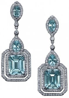 Parisian Deco Blue Topaz Earrings - Robert Procop Exceptional Jewels by Susan  happy