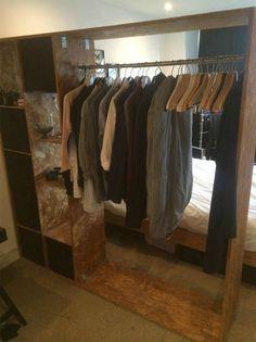 OSB BOARD / INDUSTRIAL WARDROBE / CLOTHES HANGER AND STORAGE   Streatham, London   Gumtree