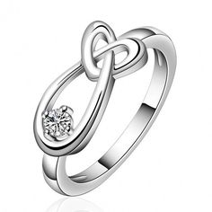 R658 Silver Plated New Design Finger Ring For Lady