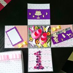 Exploding box for a baby girl