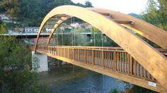 Puente Madera. Pasarela madera. Wood Bridge. Timber Bridge. Footbridge. Wood. Madera. www.mediamadera.com