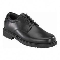 c5e5fd82b5 Men's Rockport Works RK6522 - Black Leather Oxfords #Platformoxfordshoes  Black Oxfords, Black Shoes,