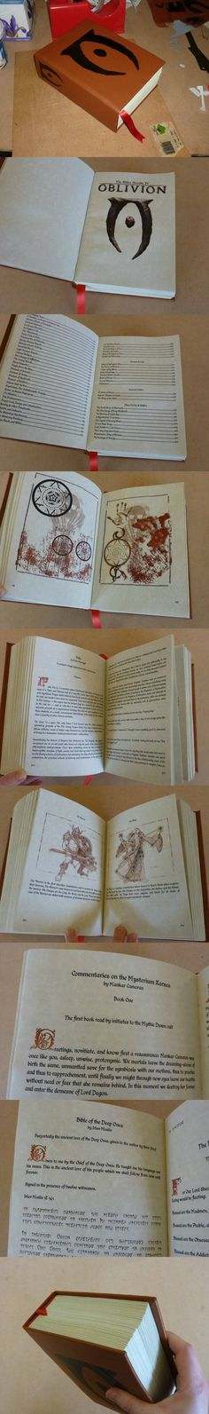 A #bookbinding #tutorial for making a leather-bound #book (specifically all the books from the Elder Scrolls).