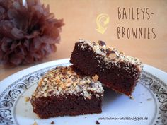Baileys-Brownies mit Nusskruste