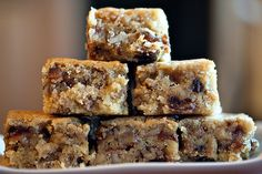 "Food For The Gods Date Nut Bars 9x13 or 2-8"" square. Rich, buttery, DELICIOUS!"