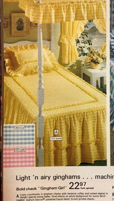 This is almost exactly my childhood bed! My Childhood Memories, Sweet Memories, 1980s Childhood, Retro, 80s Kids, Mellow Yellow, Old Toys, The Good Old Days, Bed Spreads