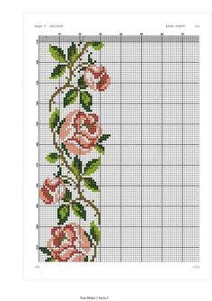 Yogurtcu Cross Stitch Borders, Cross Stitch Rose, Cross Stitch Baby, Cross Stitch Flowers, Cross Stitch Designs, Cross Stitching, Cross Stitch Embroidery, Cross Stitch Patterns, Needlepoint Patterns