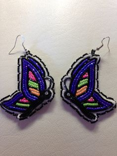 Beaded butterflies  Ta'neeszahnii Designs