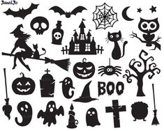 Check out our halloween svg selection for the very best in unique or custom, handmade pieces from our shops. Halloween Stencils, Halloween Symbols, Halloween Templates, Halloween Icons, Halloween Vector, Halloween Ghosts, Holidays Halloween, Halloween Crafts, Halloween Decorations