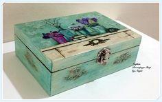 Deluxe Flower Jewelry Box. Please visit www.facebook.com/napkindecoupageshop
