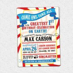 Image Result For Greatest Showman Theme Party Invitations Magic Birthday Circus Birthday Birthday Fun