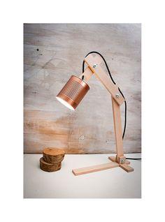 """Wood lamp, table lamps, lamps, lighting, desk lamps, wood desk lamp, lights, desk lamp, houseware, handmade lamp, lamp, """"Copper Earth"""""""