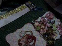 SCRAPBOOKING: Mini álbum romântico com argolas passo-a-passo