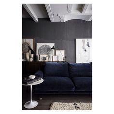 #decoration #salon #bleu #nuit