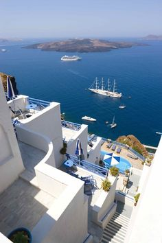 you can't beat that view, Santorini, Greece