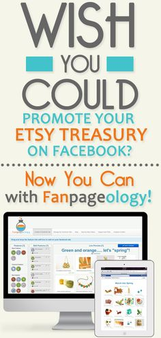 Fanpageology connects your Etsy shop to your Facebook Fanpage with the ability to create customizable tabs that will take your Facebook marketing to new levels of effectiveness. Fanpageology provides you the tools you need to increase your fans that are targeted customers and connect with them in ways that encourage more sales and brand loyalty.