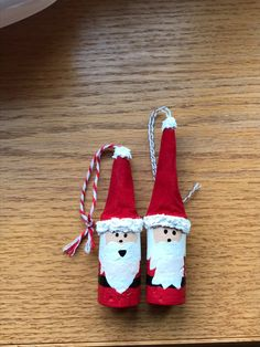 Santa wine cork ornament
